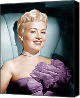 Choker Canvas Prints - Betty Grable, Ca. 1950s Canvas Print by Everett