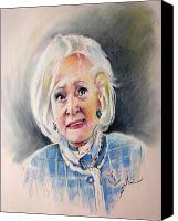 Tv Show Canvas Prints - Betty White in Boston Legal Canvas Print by Miki De Goodaboom