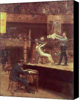 Match Painting Canvas Prints - Between Rounds Canvas Print by Thomas Cowperthwait Eakins