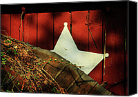 Star Barn Canvas Prints - Between Two Worlds Canvas Print by Rebecca Sherman
