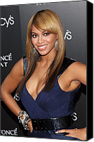 Herald Canvas Prints - Beyonce At Arrivals For Beyonce Canvas Print by Everett