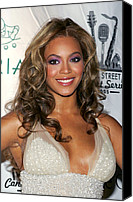 Cipriani Restaurant Wall Street Canvas Prints - Beyonce Knowles At Arrivals For The Canvas Print by Everett