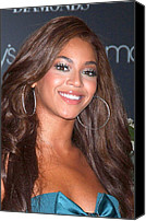 Herald Canvas Prints - Beyonce Knowles At In-store Appearance Canvas Print by Everett