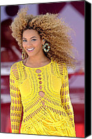 Half-length Canvas Prints - Beyonce Knowles Wearing A Julien Canvas Print by Everett
