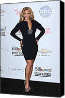 Red Carpet Canvas Prints - Beyonce Wearing A Lanvin Dress Canvas Print by Everett