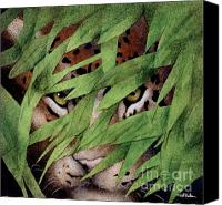Jungle Canvas Prints - Beyond the Forest Green... Canvas Print by Will Bullas