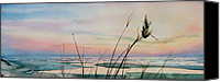 Beach Pictures Canvas Prints - Beyond The Sand Canvas Print by Hanne Lore Koehler