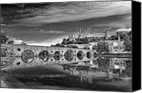 Arch Bridge Canvas Prints - Beziers Cathedral Canvas Print by Photograph by Paul Atkinson