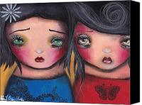 Friends Canvas Prints - Bff Canvas Print by  Abril Andrade Griffith