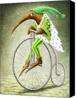 Fantasy Creatures Canvas Prints - Bicycle Canvas Print by Lolita Bronzini