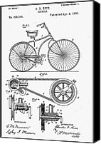 Biking Canvas Prints - Bicycle Patent 1890 Canvas Print by Bill Cannon