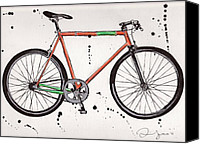 Emily Jones Canvas Prints - BicycleBicycleBicycle Canvas Print by Emily Jones