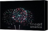 4th July Canvas Prints - Big 3 rings on sky Canvas Print by Yumi Johnson