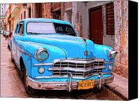 Havana Daydreams Canvas Prints - Big Bad Dodge Canvas Print by Dominic Piperata