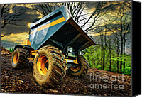 Woodland Canvas Prints - Big Bad Dumper Truck Canvas Print by Meirion Matthias