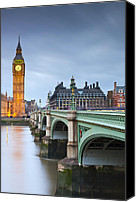 Clocktowers Canvas Prints - Big Ben and bridge Canvas Print by Sebastian Wasek