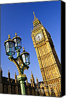 Lamppost Canvas Prints - Big Ben and Palace of Westminster Canvas Print by Elena Elisseeva