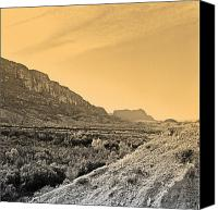Big Bend Canvas Prints - Big Bend Natinal Park at Sunset Canvas Print by M K  Miller