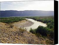 Big Bend Canvas Prints - Big Bend Park Overlooking the Rio Grand River Canvas Print by M K  Miller