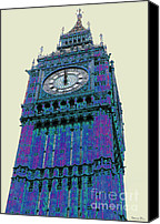 Europe Pyrography Canvas Prints - BIG blue BEN Canvas Print by Beth Saffer