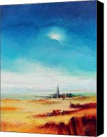 Norfolk Painting Canvas Prints - Big Blue Sky - Steeple Canvas Print by C J Elsip 
