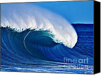 Surf Art Canvas Prints - Big Blue Wave Canvas Print by Paul Topp