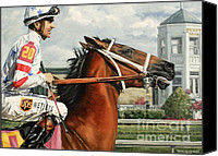 Preakness Canvas Prints - Big Brown at Churchill Canvas Print by Thomas Allen Pauly