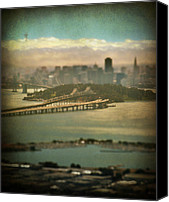 San Francisco Digital Art Canvas Prints - Big City Dreams Canvas Print by Laurie Search