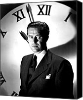 1948 Movies Canvas Prints - Big Clock, The, Ray Milland, 1948 Canvas Print by Everett