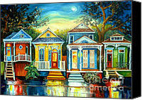 Live Oaks Canvas Prints - Big Easy Moon Canvas Print by Diane Millsap