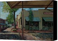 Diners Canvas Prints - Big Eds Cafe Raleigh NC Canvas Print by Doug Strickland