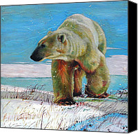 Wildlife Glass Special Promotions - Big Foot 2 Canvas Print by Kelly McNeil