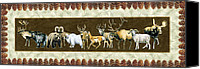 Goat Canvas Prints - Big Game Lodge Canvas Print by JQ Licensing