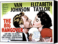 1950 Movies Canvas Prints - Big Hangover, Van Johnson, Elizabeth Canvas Print by Everett