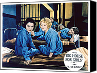 1930s Movies Canvas Prints - Big House For Girls Aka The Silver Canvas Print by Everett