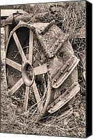 Tractor Wheel Canvas Prints - Big Iron II Canvas Print by JC Findley