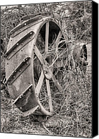 Tractor Wheel Canvas Prints - Big Iron Canvas Print by JC Findley