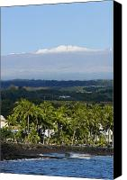 Mauna Kea Canvas Prints - Big Island, Hilo Bay Canvas Print by Ron Dahlquist - Printscapes