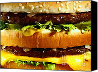 Junk Canvas Prints - Big Mac - Painterly Canvas Print by Wingsdomain Art and Photography