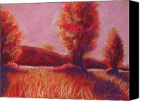 Rural Landscapes Pastels Canvas Prints - Big Otter Creek - Sunset Canvas Print by Wynn Creasy