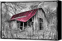Appalachia Photo Canvas Prints - Big Red Canvas Print by Debra and Dave Vanderlaan