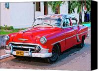 Havana Daydreams Canvas Prints - Big Red Canvas Print by Dominic Piperata