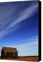 Pioneers Canvas Prints - Big Sky School Yard Canvas Print by Jerry Cordeiro