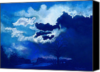 Storm Clouds Pastels Canvas Prints - Big Storm Coming Canvas Print by Lorraine McFarland