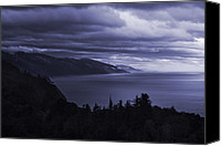 Storm Canvas Prints - Big Sur Storm Canvas Print by Matt  Trimble