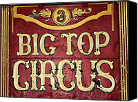 Top Canvas Prints - Big Top Circus Canvas Print by Kristin Elmquist