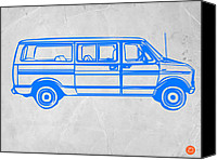 Car Drawings Canvas Prints - Big Van Canvas Print by Irina  March