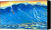 Huge Painting Canvas Prints - Big Wave Canvas Print by Douglas Simonson
