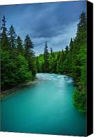 Rainforest Canvas Prints - Big Wedeene River Canvas Print by Doug Keech