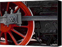 Locomotive Canvas Prints - Big Wheel Canvas Print by David Kyte